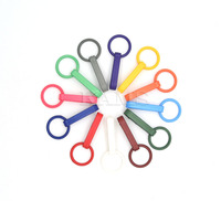 1200pcs Colorful Gloves Hook Plastic Buckles Snap Hook With O Ring Used For Shower Curtains