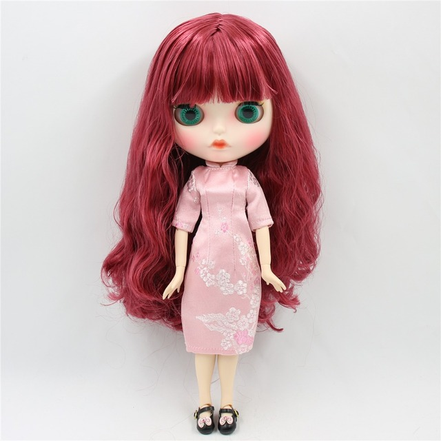 Ellie – Premium Custom Blythe Doll with Clothes Pouty Face