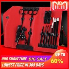14PCS/set Nails Art Clipper Scissors Tweezer Knife toe Professional Manicure set Nosehair cut Grooming kit Manicure Tools стоимость