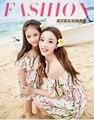 Мама и дочь платье соответствия мать дочь одежда семья взгляд девушка и мать цветочные шифоновое платья без рукавов