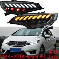 2pcs Bumper headlights for 2014 2015 2016 2017 2018 Fit Jazz GK5 headlamp LED car accessories Front light Jazz Fit hi lo beam