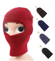 Kids Knit 1 one hole Face Mask winter ski 2-Layer balaclava Hat  Cap Boys Girls