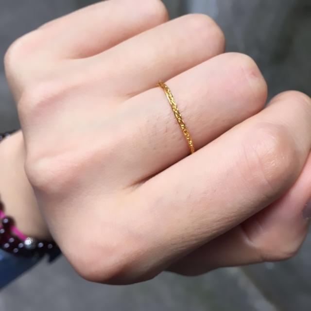 Pure 24K Yellow Gold Ring Womens Wheat Chain Link Ring US Size  3-10Pure 24K Yellow Gold Ring Womens Wheat Chain Link Ring US Size  3-10