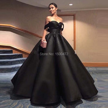 2017 vestido longo Sweetheart Black  Prom Dresses Sequined Elegant Backless Arabic Turkish Gowns Gala Women Formal Party Gowns