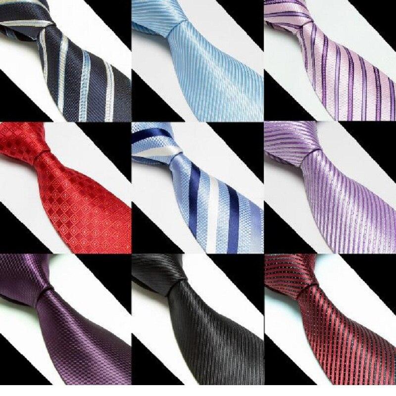 HOOYI Stripe Pánské mikrovlákna kravaty kravaty kravaty obchodní dospělé corbatas gravata