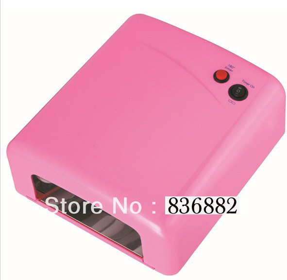 36w Professional Pink Nail Art Gel CURING UV Lamp nail Dryer EU Plug&Free Shipping