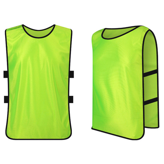 2017 New Sleeveless Men Kids Football Soccer Training Jersey Sports Against  Vest Waistcoat Grouping Jerseys Shirt DIY Customized 08689048b