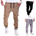 Men Slim Casual Long Pants Tracksuit Bottoms Lace Up Waist Solid Men's Autumn Outwear Pants High Quality Harem Pants Trousers