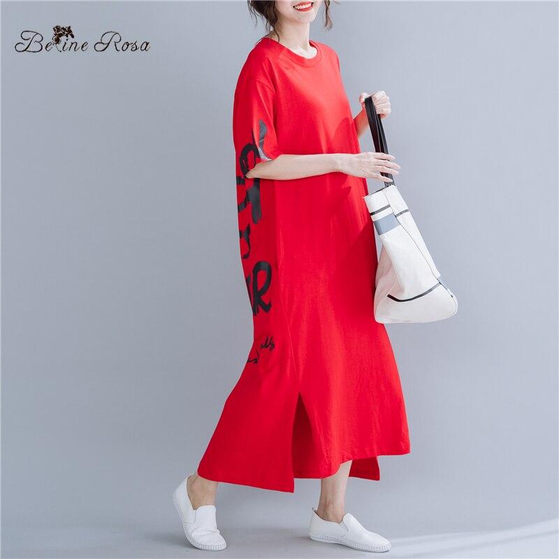 BelineRosa 2019 Summer Style Oversized Dresses Women Plus Size Clothing European Fashion Dress SGBZ0001