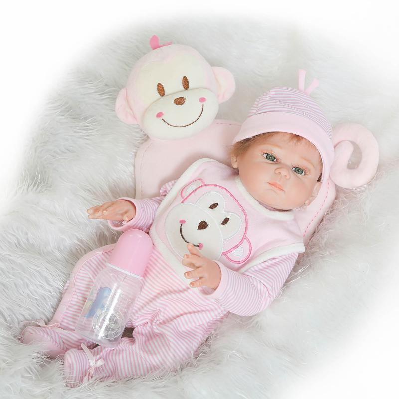 NPKDOLL 50 cm corps complet Silicone Reborn poupées réaliste bébé garçon fille poupées reborn bebe Boneca Reborn Realista enfant jouets cadeau