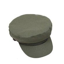 0d8dce2dce301 Mulher de algodão chapéu militar do exército meninas chapéus sailor gorras  patrol caps respirável cor sólida militar chapéu unis.