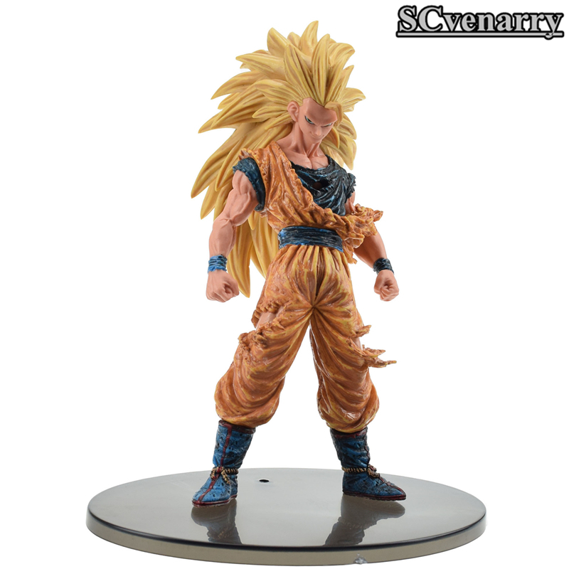 Toys & Hobbies Son Goku Action Figure Toy 21cm Pvc Cartoon Super Saiyan Dragon Ball Z 6 Edition Battle Damaged Ver