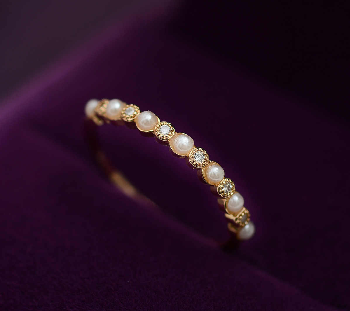 Imitation Pearls CZ Ring Shining Delicate 2018 Fashion Luxury Design Gift To Lover Rings for Women New Style Bague Femme
