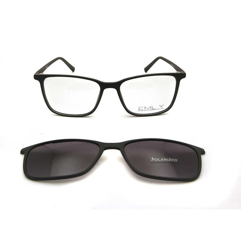 af9f627de7 ... ESNBIE Ultralight Men TR90 Eyeglasses Frame Magnetic Clip Sunglasses  Women Polarized Designer Nerd Glasses Frames Eye ...
