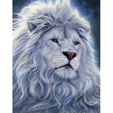 FULL 5D Diy Diamond Painting Cross Stitch kits  Embroidery Animal lion Picture Mosaic Pattern Home Decor Resin Drill gift diy 5d diamond painting animal lion cat cross stitch kit full drill embroidery mosaic art picture of rhinestones home decor gift
