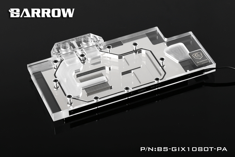 Barrow BS-GIX1080T-PA GPU Water Cooling Block for GIGA XTREME GAMING GTX1080Ti cpu cooling conductonaut 1g second liquid metal grease gpu coling reduce the temperature by 20 degrees centigrade