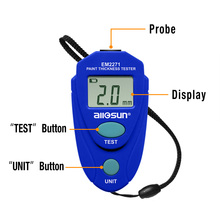цена на all-sun Thickness Gauge EM2271 With Russian Manual Digital Display  Car Painting Thickness Meter