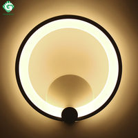 Wall Lamps 12W 16W Sconce Bedroom Stair Bathroom Aluminum LED Wall Light Modern Round Luminaire Corridor