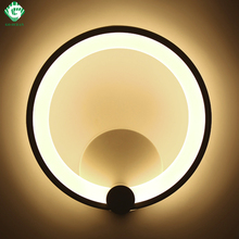 Wall Lamps 12W 16W Sconce Bedroom Stair Bathroom Aluminum LED Wall Light Modern Round Luminaire Corridor Hotel Home Lighting