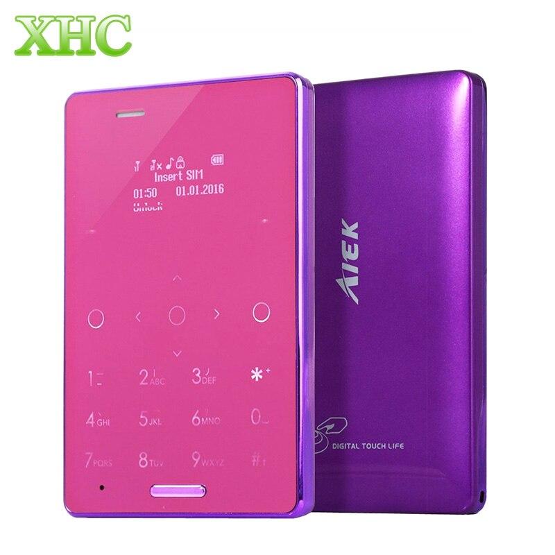 <font><b>AIEK</b></font> M4 карты мобильный телефон GSM 2 г 5.8 мм ультра тонкий карманный мини Slim карт телефон разблокирован dual sim m4 ребенок карты сотовый телефон