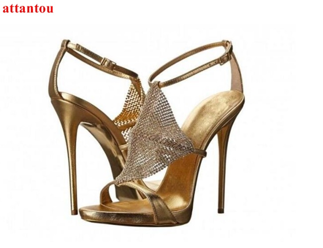 woman sandals 2017 summer fashion metal chains net design gold high heels thin heel peep toe pumps female party show shoes fashion summer apricot sandals charming multi buckles design woman high heels ankle buckles cover heel back zipper free ship