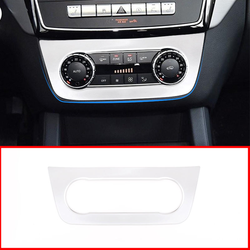 Matte ABS Central Control Air Outlet Vent Decorative Frame Trim For <font><b>Mercedes</b></font> <font><b>Benz</b></font> ML GLE <font><b>GL</b></font> GLS Class W166 <font><b>X166</b></font> Car <font><b>Accessories</b></font> image