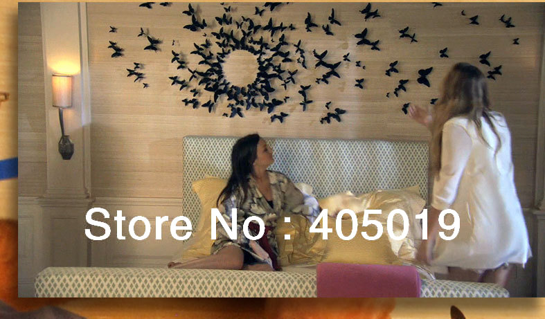 2 3 3d diy butterfly wall sticker decoration 10 for Decoration murale papillon 3d