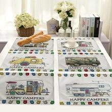 Happy campers коврик из ткани для украшения стола коврик для кухни posavems Manteles индивидуальные Onderzetters H090