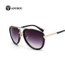 AOUBOU 2017 Mujeres de La Manera gafas de Sol Retro Ovalada Marco de Metal Estilo de la Estrella Femenina Gafas de Sol UV400 Gafas De Sol Mujer 6141