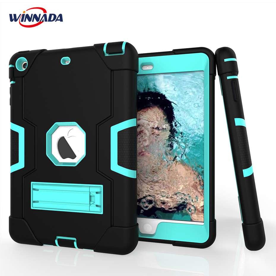 Case for iPad mini 1 2 3 hand-held Shock Proof full body cover Handle stand sleeve for ipad mini 2 case capa funda