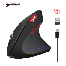HXSJ Wireless Mouse Vertical Optical Mouse Ergonomic Gaming Mouse Computer PC Computer Therapy Mouse Desktop Computer Desktop