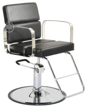 52254 Hair salon chair. Japanese style chair. Shaving chair the silver chair