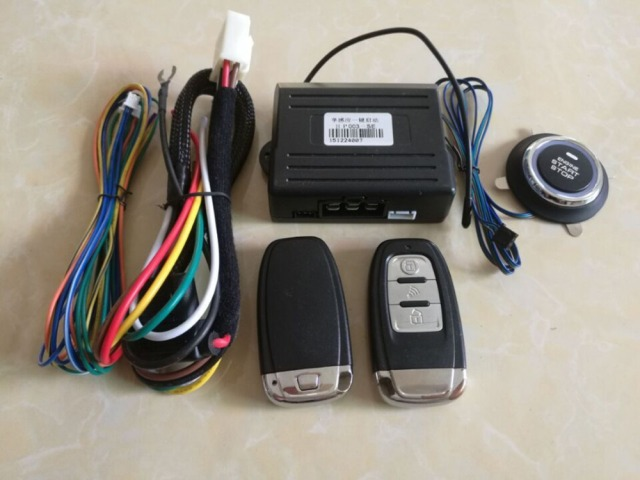 Pke Car Alarm System Keyless Auto Entry Car Engine