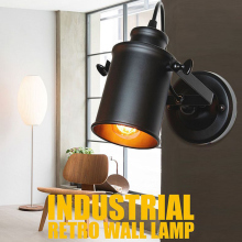 Led Wall Lamp Retro Industrial E27 Wall Light LED Wall sconce Vintage wall Lights for Restaurant bedside Bar Cafe Home Lighting loft style vintage industrial edison e27 wall light home decoration lighting cafe bar restaurant wall lamps free shipping