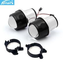 "2.5"" H11 Bi Xenon Fog Projector Lens mount bracket For Car styling W204 W211 W164 W169/Smart Fortwo H11 Fog Lights Retrofit"