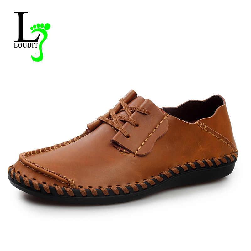 Erkek ayakkabısı 2019 Yaz Sneakers Nefes Marka rahat ayakkabılar El Yapımı Moda Deri Moccasins Erkekler sürüş ayakkabısı