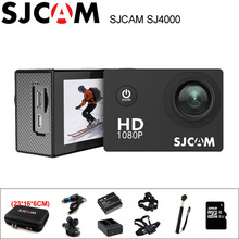Câmera Ação SJ4000 SJCAM 2.0 polegada Tela de Mergulho 30 M À Prova D' Água HD 1080 P Capacete mini Filmadora Original SJ 4000 Cam Esportes DV