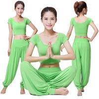 Hot Sale Brand 2018 New Women's Yoga Clothes Sets Yoga Lantern Pants Set For Female Fitness Clothing Dance Suits