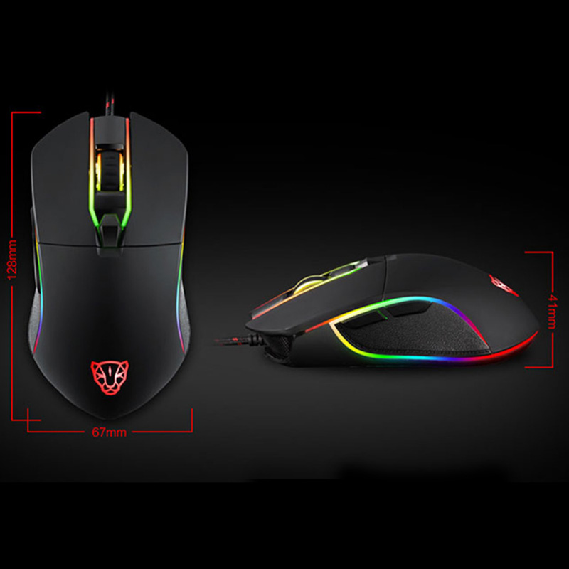 Wired Gaming Mouse Adjustable LED Backlight 3500 DPI 6 Buttons Optical Mice for PC Laptop Computer XXM8