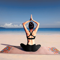 1.5mm Thickness 16 Styles Non slip Ultrathin Deerskin Suede Rubber Yoga Mat Lose Weight Exercise Pilates Pad 1830*680mm
