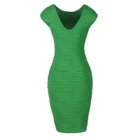 2016 New Women Sexy Rayon Elastic Celebrity Bandage Dress Bodycon Club Party Dresses Elegant Sleeveless Work