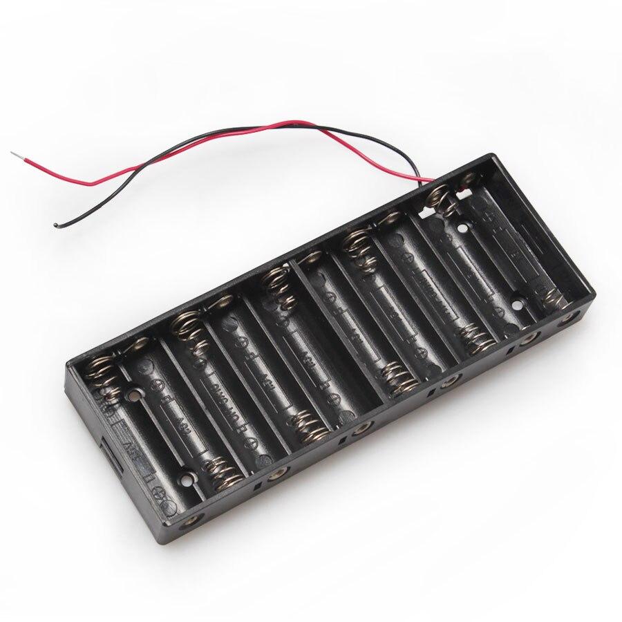 100PCS/lot Battery Plastic Housing 10*AA Battery Charger