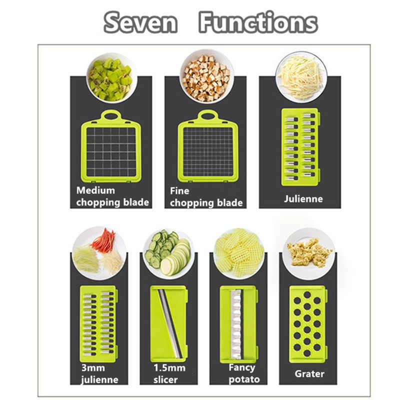 Acessórios de Cozinha Mandolina Fatiador de Frutas Cortador de Batata Cortador de legumes Ralador de Queijo Vegetal Slicer Descascador de Cenoura