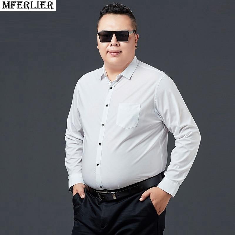 Ikaliao Comprar Camisas Formales 7xl 9xl 11xl 12xl 14xl Para Oficina De Otono Manga Larga Talla Grande Hombre Mferlier Online Baratos