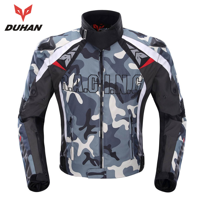 DUHAN Camouflage Motorcycle Racing Protective Armor Jacket Knight Riding Jackets Motorcycle Motorbike Anti Fall Jacket scoyco motorcycle riding knee protector extreme sports knee pads bycle cycling bike racing tactal skate protective ear