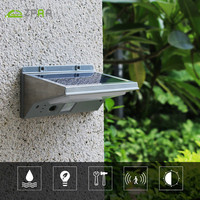 21 LED Solar Light Super Bright Solar Panel Lamp Lights 3 Modes Stainless Steel ABS Wall