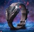 2016 Новый СВЕТОДИОДНЫЕ часы уникальный дизайн силиконовая руки кольцо наручные часы Для мальчик в девочке студент Моды цифровые часы relogio мужской Подарок