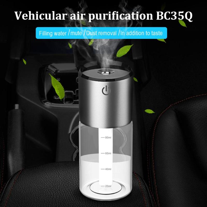 100Ml USB Car Air Humidifier Aroma Essential Oil Aromatherapy Steam Car Diffuser QC3.0 Quick Charge USB Charger Air Purifier