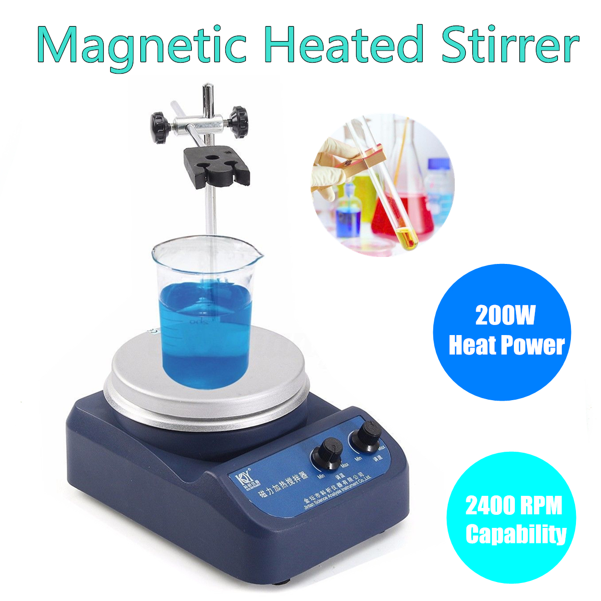 200W 50HZ Magnetic Stirrer With Hotplate Digital Mixer Heating Plate Control 110V/220V new 220v magnetic stirrer instrument temperature dispay with heating plate hotplate mixer