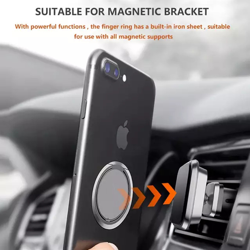 Universal Mobile Phone Finger Ring 90 Degree Rotatable Smartphone Stand Holder For iPhone Samsung Huawei Metal Car Mount Stand in Phone Holders Stands from Cellphones Telecommunications